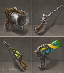Steampunk Guns by AugustinasRaginskis