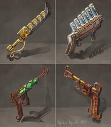 Steampunk Weapons by AugustinasRaginskis