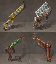 Steampunk Weapons by AugustinasRaginskis
