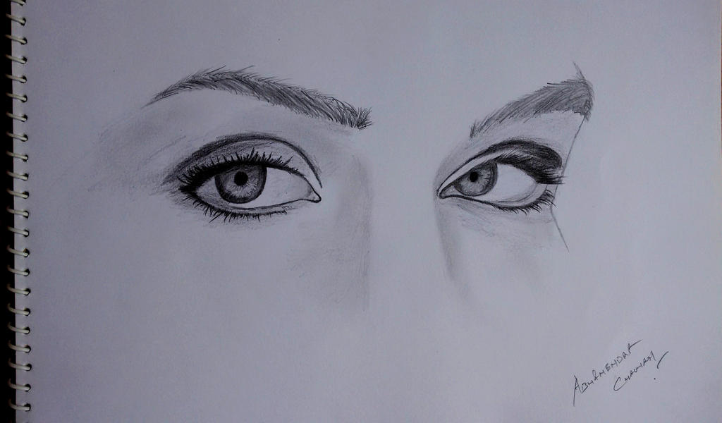 Realistic Eyes by abhinendrachauhan