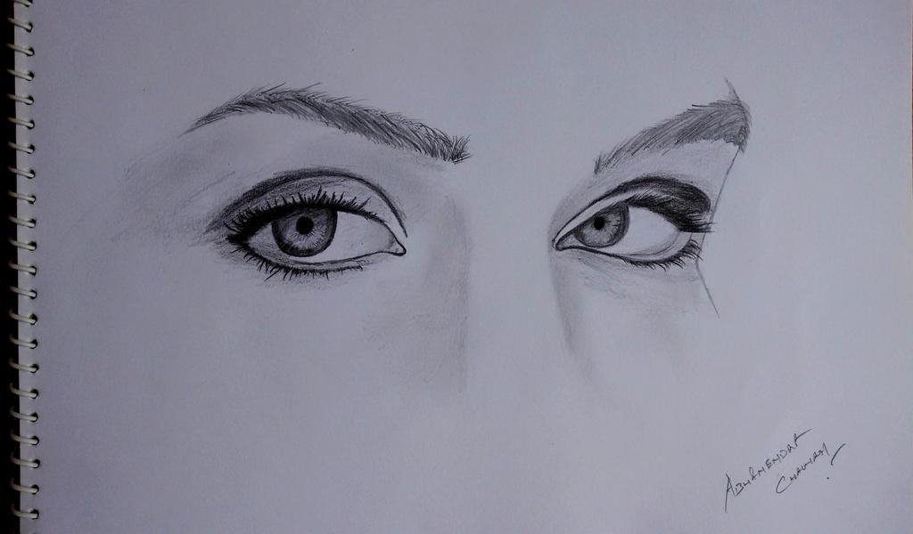 Realistic Eyes by abhinendrachauhan