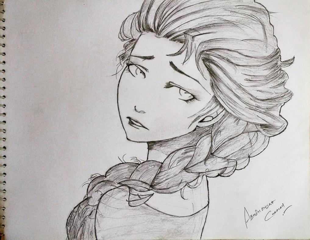 My version of Disney Princess Elsa by abhinendrachauhan
