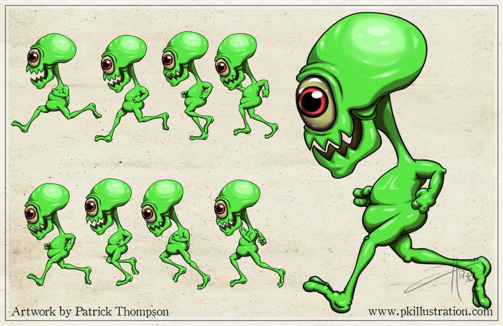 Running Alien Animation Sprite Frames by patthompson008 on DeviantArt