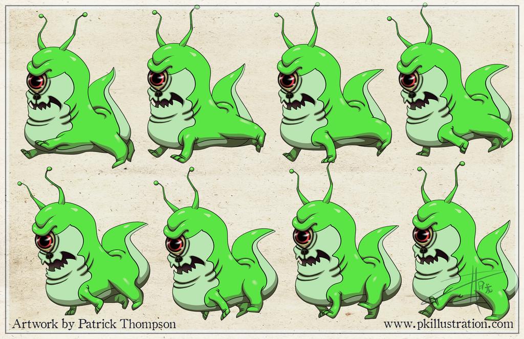 Running Alien Dog Animation Sprite Frames by patthompson008 on ...