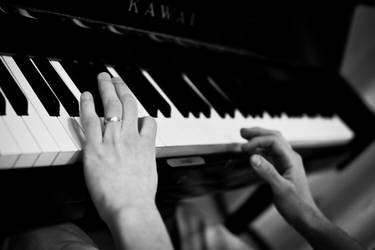 My brother playing the piano