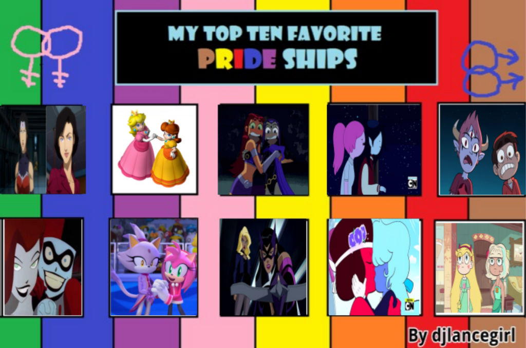 Top 10 Favorite Pride Couples by PrincessFlameFigher on