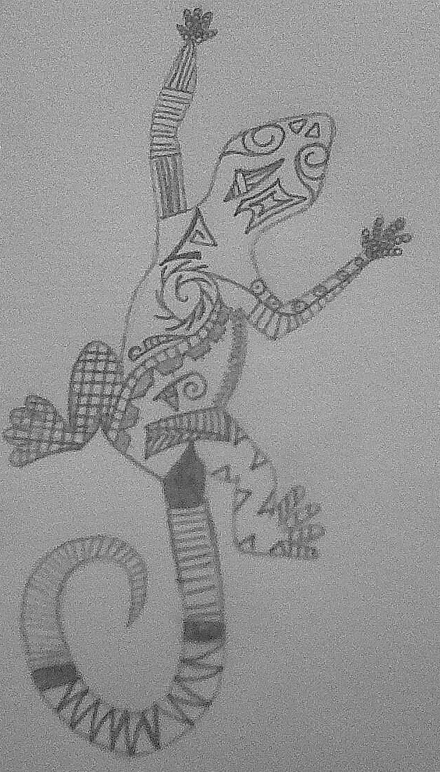 Maori Gecko by disfunctionalhermit on deviantART