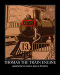 Thomas the Train engine makes a stop in Amestris