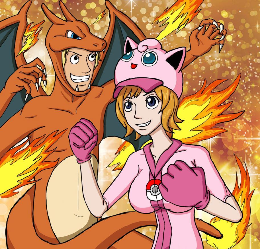 Original One Piece Amiibo Charizard And Jigglypuff by Erk-kun