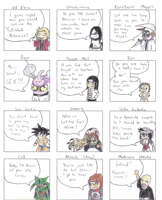 'Manga Pick Up Lines' Vol. 2 By Erk-kun On DeviantArt