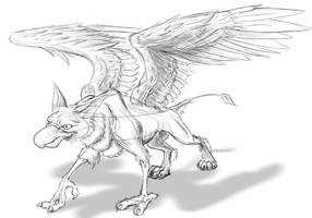 Gryphon Sketch by Gingco