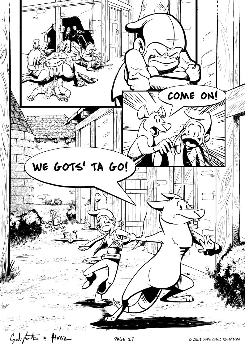 Oops Comic Adventure #3 page 17 by Gingco