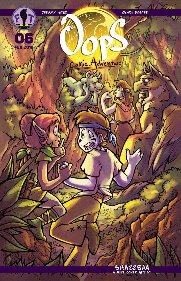 Oops Comic Adventure #6 Cover by Gingco