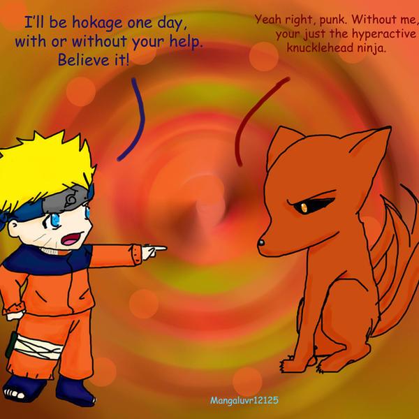 Naruto as the nine tailed fox