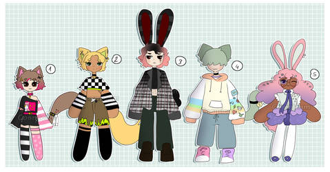 [OPEN] Kemonomimi adopts by CosmicamsBakery
