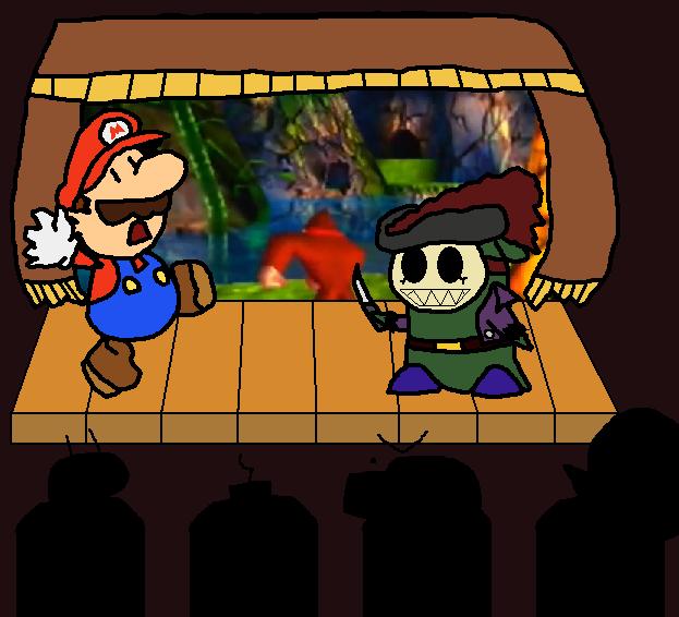 Paper Mario encounters a Sharc Guy by dorko4u