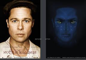 Na'vi Brad Pitt by jessecheema