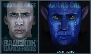 Nicolas Cage ' Na'vi by jessecheema