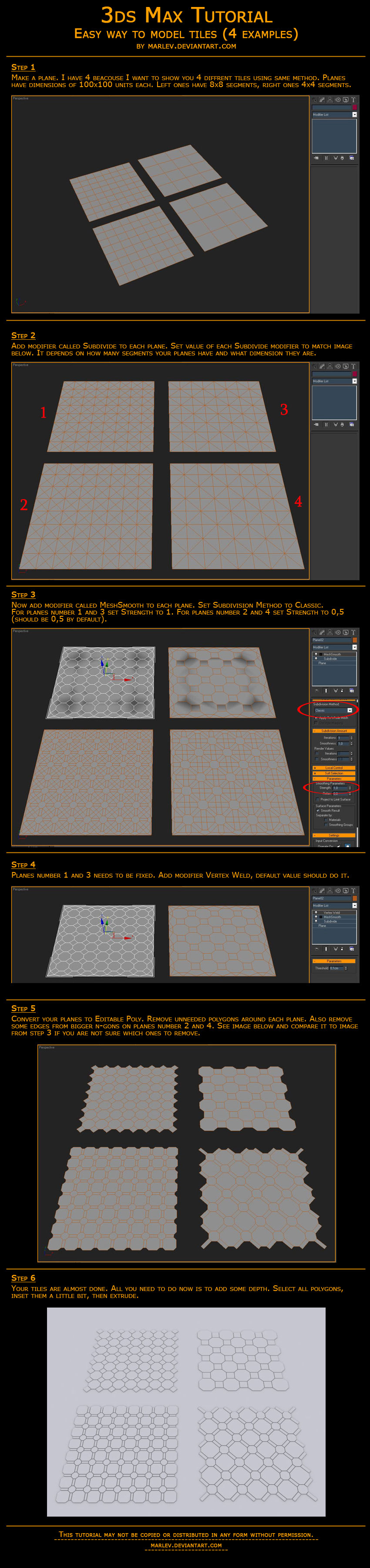 Making of tiles in 3ds Max by marlev