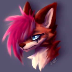 Painted Emo Fox (OPEN COMMISSION!)