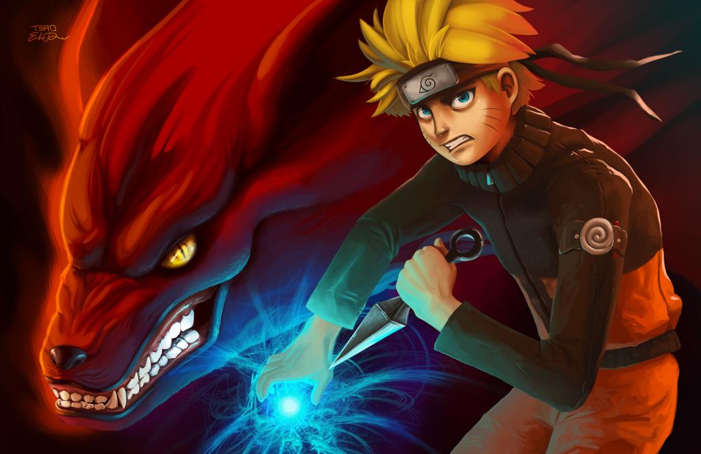 Naruto and Kyuubi by TsaoShin