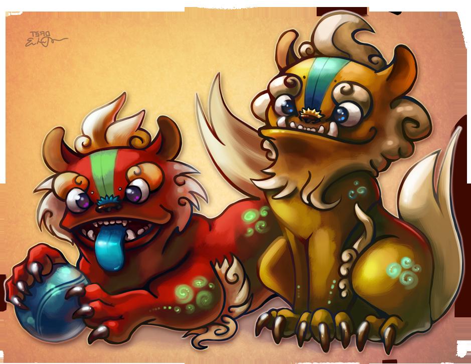 Little Foo Dogs by TsaoShin