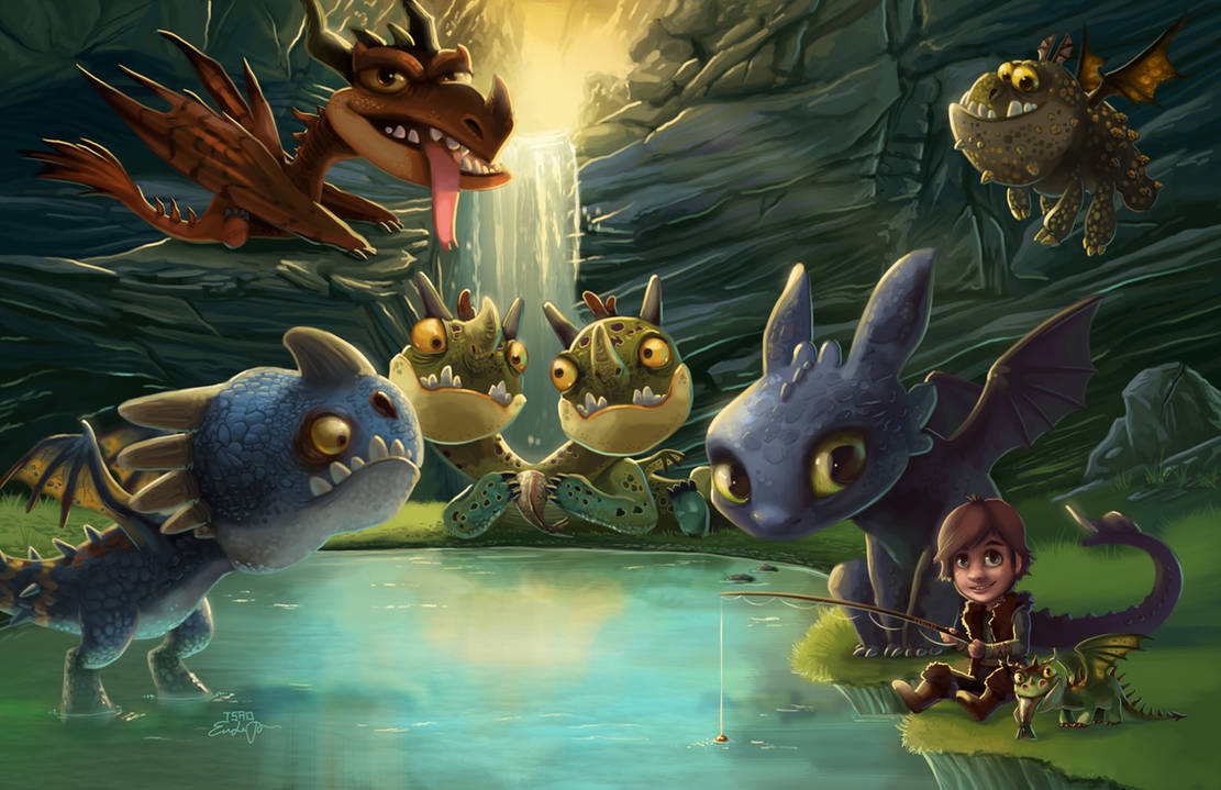 HTTYD: Dragon's Dinner Party by TsaoShin