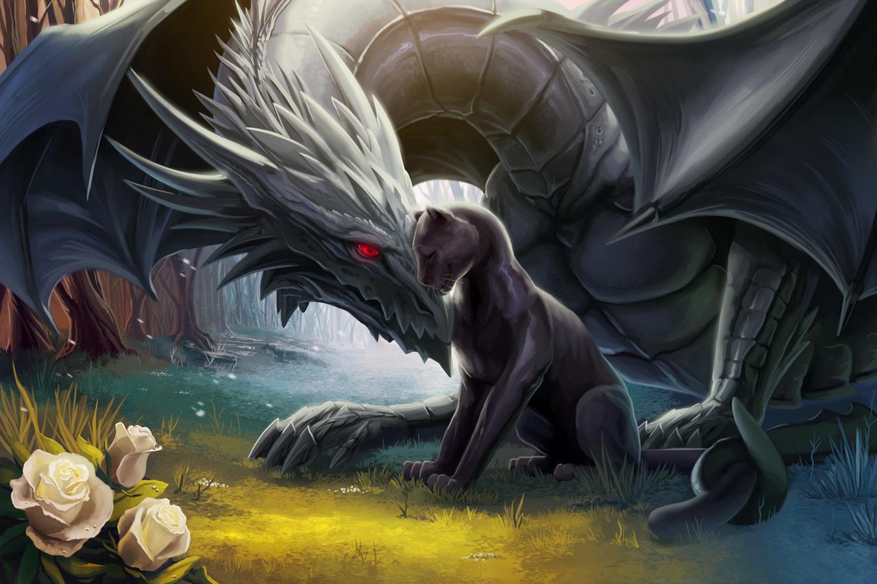 Deviantart: Dragon And Panther By TsaoShin On DeviantArt