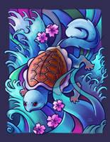 Squirtle Tattoo by TsaoShin