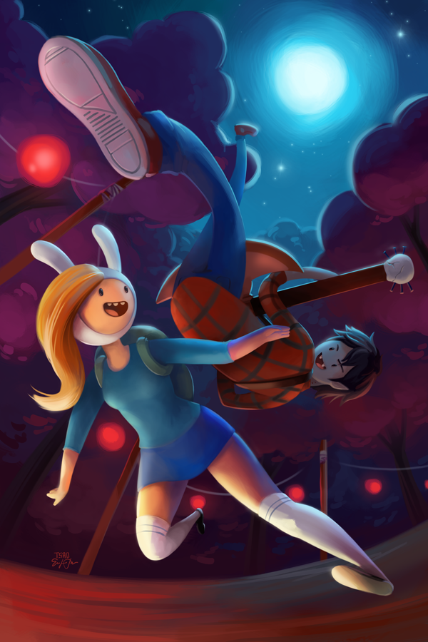 Fionna and Marshall Lee by TsaoShin