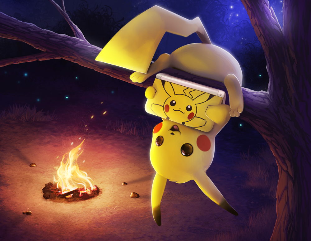 Pikachu 3DS Commission by TsaoShin