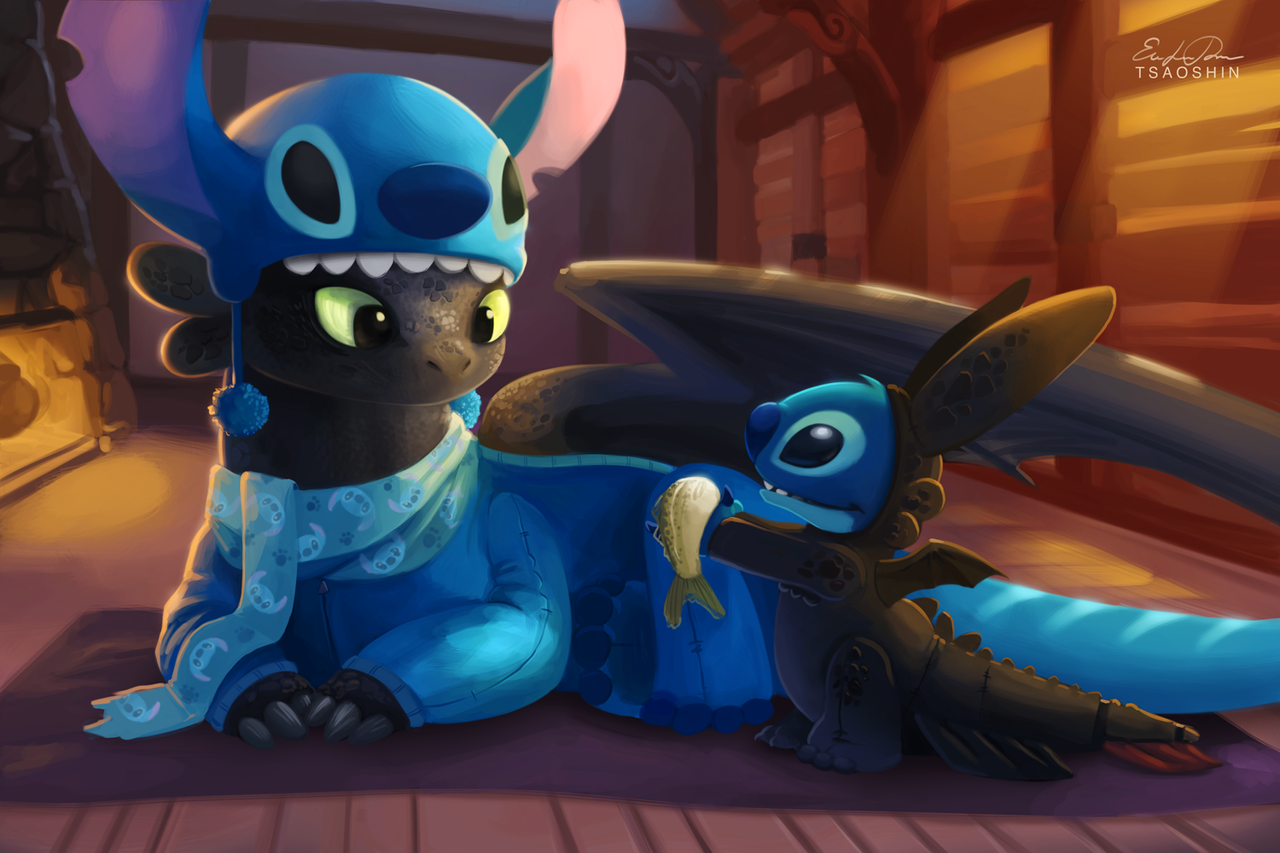 [Image: stitch_and_toothless_by_tsaoshin-d7i57wg.png]
