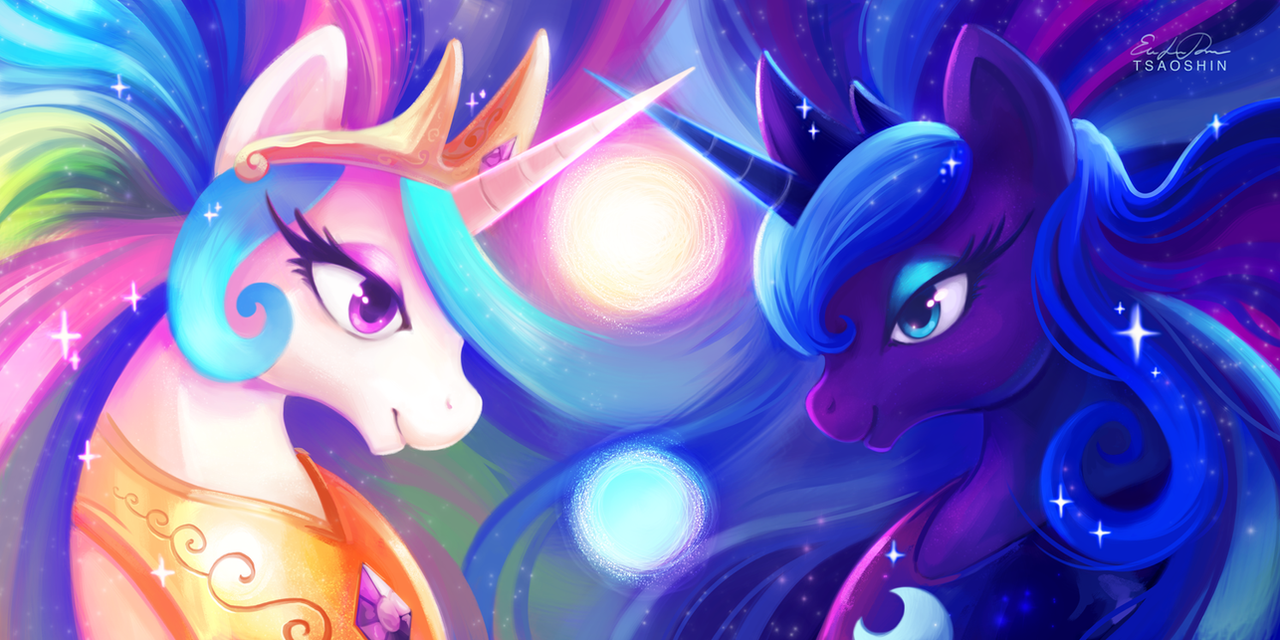 Celestia and Luna by TsaoShin