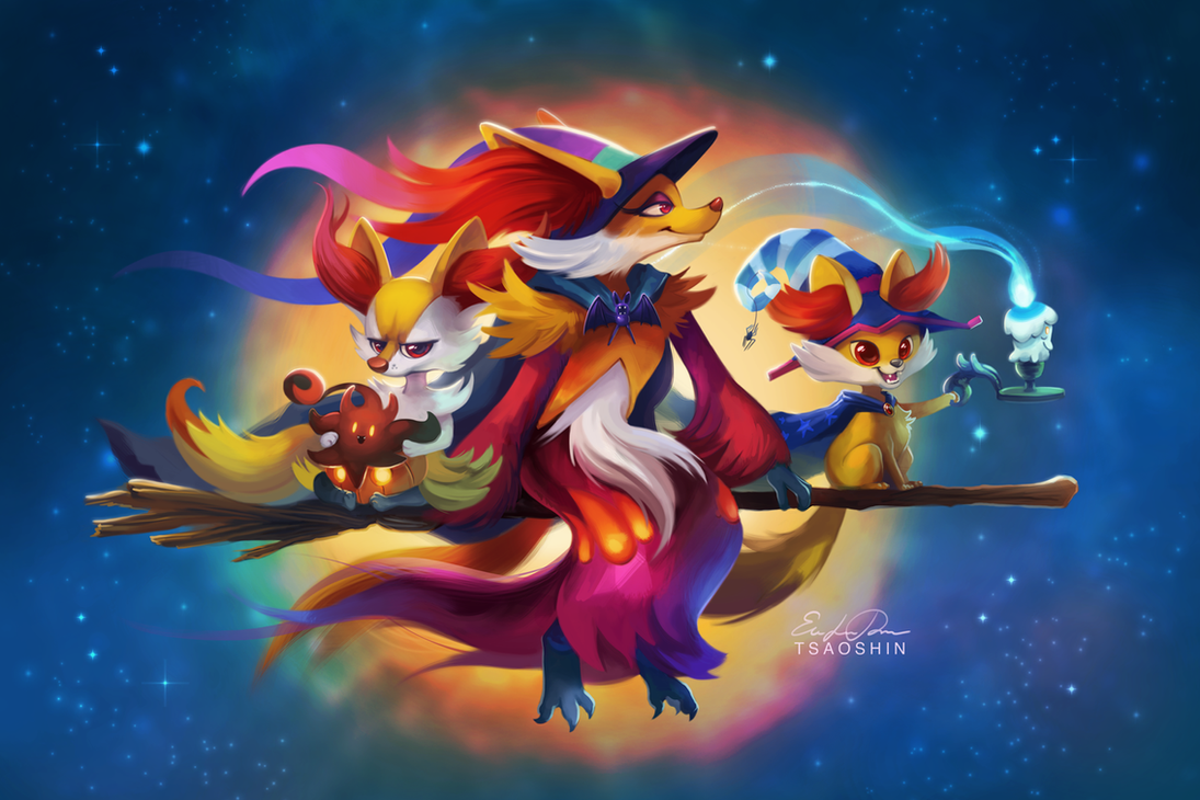 Great Wallpaper Halloween Pokemon - fire_witches_by_tsaoshin-d7zny74  Best Photo Reference_457442.png