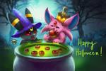 Espeon and Umbreon Halloween