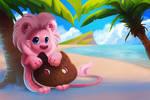 Lion on the Beach