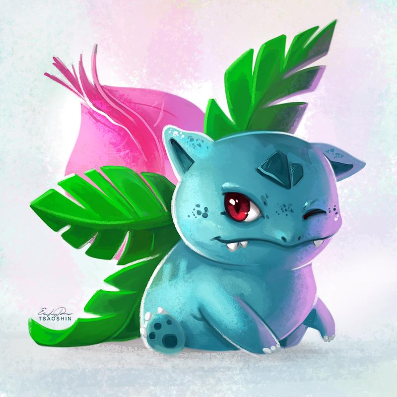 002 - Ivysaur by TsaoShin