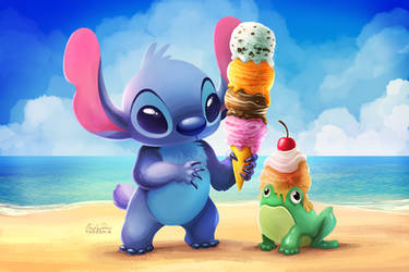 Stitch Ice Cream - Paint Along
