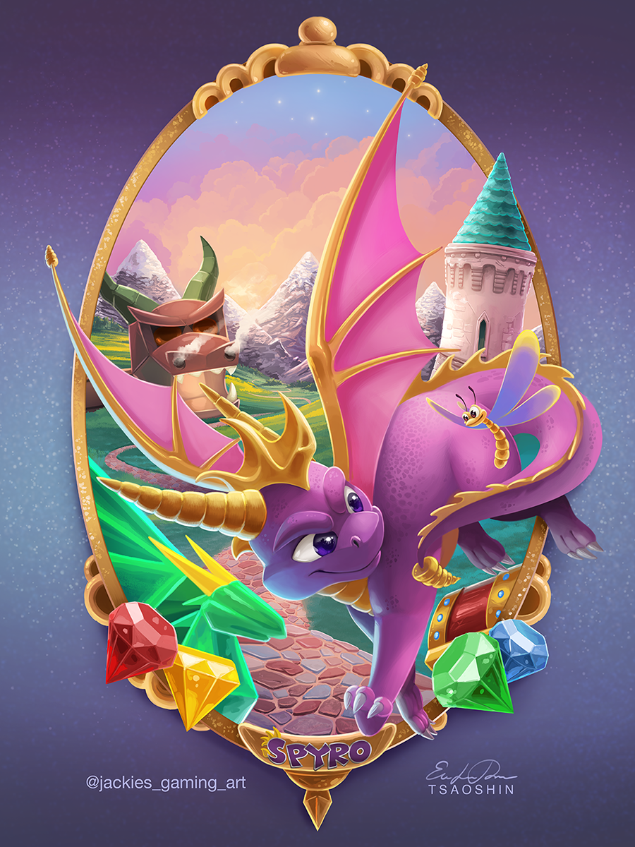 Spyro the Dragon by TsaoShin