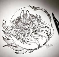 Inktober Day 1: Awoo by TsaoShin
