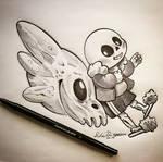 Inktober Day 11: Spooky Scary Skeleton