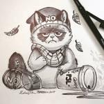 Inktober Day 14: Grumpy