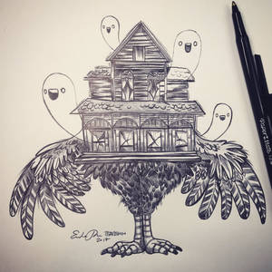 Inktober Day 15: Haunted House