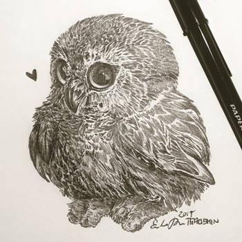 Inktober Day 19: Bird by TsaoShin