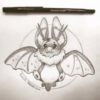 Inktober Day 26: Bat by TsaoShin