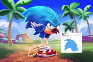 Twitter Sonic by TsaoShin