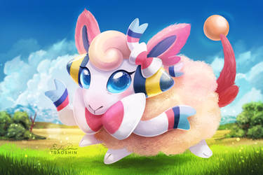 Mareepeon - Pokemon Fusion by TsaoShin
