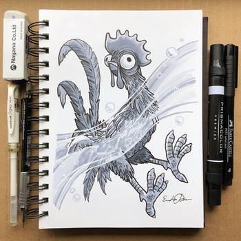 Inktober Day 5 - Chicken by TsaoShin