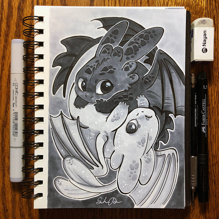 Inktober Day 29 - Double by TsaoShin