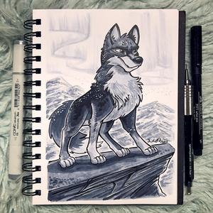 Inktober Day 6 - Husky